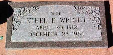 WRIGHT, ETHEL ELIZABETH - Yavapai County, Arizona | ETHEL ELIZABETH WRIGHT - Arizona Gravestone Photos