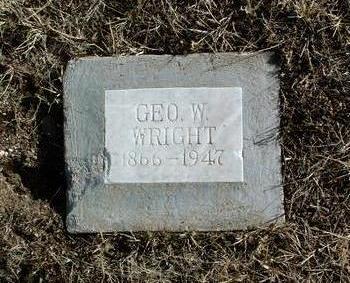 WRIGHT, GEORGE W. - Yavapai County, Arizona | GEORGE W. WRIGHT - Arizona Gravestone Photos