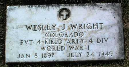 WRIGHT, WESLEY J. - Yavapai County, Arizona | WESLEY J. WRIGHT - Arizona Gravestone Photos