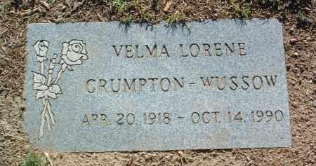 CRUMPTON WUSSOW, VELMA LORENE - Yavapai County, Arizona   VELMA LORENE CRUMPTON WUSSOW - Arizona Gravestone Photos