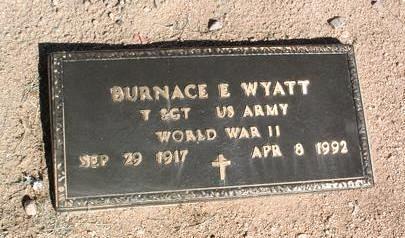 WYATT, BURNACE EDWIN  (BUD) - Yavapai County, Arizona | BURNACE EDWIN  (BUD) WYATT - Arizona Gravestone Photos