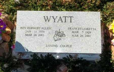 WYATT, FRANCES L. - Yavapai County, Arizona | FRANCES L. WYATT - Arizona Gravestone Photos