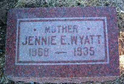 WYATT, JENNIE E. - Yavapai County, Arizona | JENNIE E. WYATT - Arizona Gravestone Photos