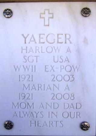 YAEGER, HARLOW ALONZO - Yavapai County, Arizona   HARLOW ALONZO YAEGER - Arizona Gravestone Photos