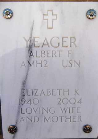YEAGER, ALBERT F. - Yavapai County, Arizona | ALBERT F. YEAGER - Arizona Gravestone Photos