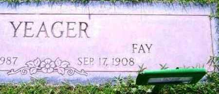 SIRMAN YEAGER, FAY ALMA - Yavapai County, Arizona | FAY ALMA SIRMAN YEAGER - Arizona Gravestone Photos