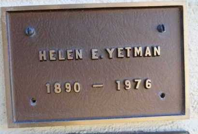 VANCLIEF) YETMAN, HELEN - Yavapai County, Arizona | HELEN VANCLIEF) YETMAN - Arizona Gravestone Photos