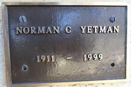 YETMAN, NORMAN CHARLES - Yavapai County, Arizona | NORMAN CHARLES YETMAN - Arizona Gravestone Photos