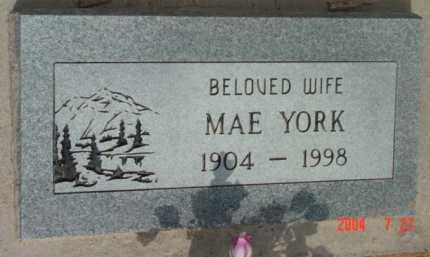 YORK, MAE ETHELYN - Yavapai County, Arizona | MAE ETHELYN YORK - Arizona Gravestone Photos