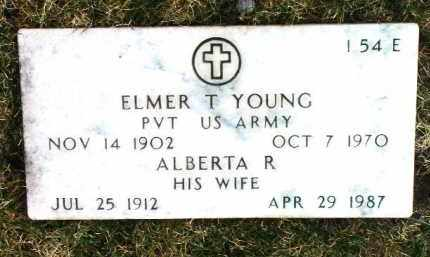 YOUNG, ELMER THOMAS - Yavapai County, Arizona | ELMER THOMAS YOUNG - Arizona Gravestone Photos