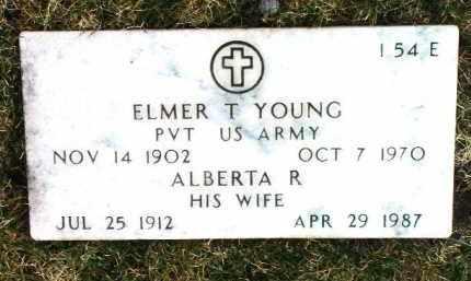 YOUNG, ALBERTA R. - Yavapai County, Arizona | ALBERTA R. YOUNG - Arizona Gravestone Photos