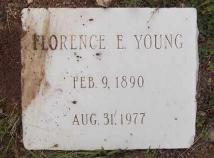 YOUNG, FLORENCE E. - Yavapai County, Arizona   FLORENCE E. YOUNG - Arizona Gravestone Photos