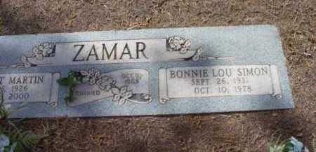 SIMON ZAMAR, BONNIE LOU - Yavapai County, Arizona | BONNIE LOU SIMON ZAMAR - Arizona Gravestone Photos