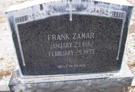 ZAMAR, FRANK - Yavapai County, Arizona | FRANK ZAMAR - Arizona Gravestone Photos