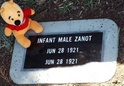 ZANOT, INFANT MALE - Yavapai County, Arizona   INFANT MALE ZANOT - Arizona Gravestone Photos