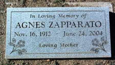 ZAPPARATO, AGNES - Yavapai County, Arizona | AGNES ZAPPARATO - Arizona Gravestone Photos