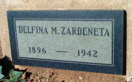 ZARDENETA, DELFINA M. - Yavapai County, Arizona | DELFINA M. ZARDENETA - Arizona Gravestone Photos