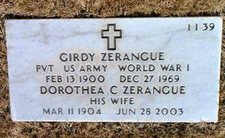 ZERANGUE, GIRDY - Yavapai County, Arizona | GIRDY ZERANGUE - Arizona Gravestone Photos