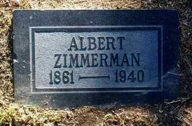 ZIMMERMAN, ALBERT - Yavapai County, Arizona | ALBERT ZIMMERMAN - Arizona Gravestone Photos