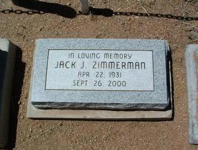 ZIMMERMAN, JACK JORDAN - Yavapai County, Arizona | JACK JORDAN ZIMMERMAN - Arizona Gravestone Photos