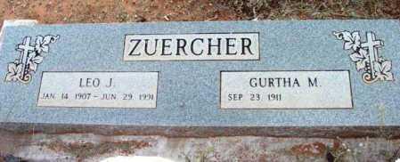 ZUERCHER, GURTHA M. - Yavapai County, Arizona | GURTHA M. ZUERCHER - Arizona Gravestone Photos