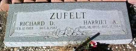ZUFELT, HARRIET A. - Yavapai County, Arizona | HARRIET A. ZUFELT - Arizona Gravestone Photos