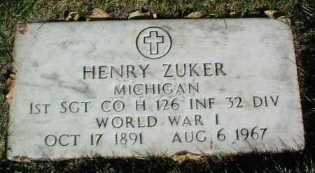 ZUKER, HENRY - Yavapai County, Arizona | HENRY ZUKER - Arizona Gravestone Photos