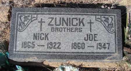 ZUNICK, NICK - Yavapai County, Arizona | NICK ZUNICK - Arizona Gravestone Photos