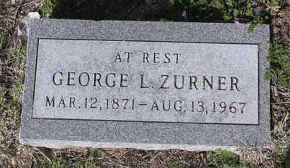 ZURNER, GEORGE LEWIS - Yavapai County, Arizona   GEORGE LEWIS ZURNER - Arizona Gravestone Photos