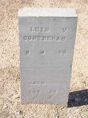 CONTRERAS, LUIS V. - Yuma County, Arizona | LUIS V. CONTRERAS - Arizona Gravestone Photos