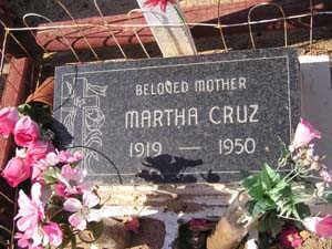 CRUZ, MARTHA - Yuma County, Arizona   MARTHA CRUZ - Arizona Gravestone Photos