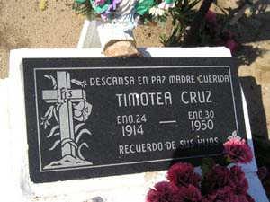 CRUZ, TIMOTEA - Yuma County, Arizona | TIMOTEA CRUZ - Arizona Gravestone Photos