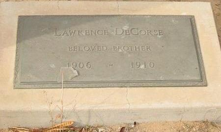 DECORSE, LAWRENCE - Yuma County, Arizona   LAWRENCE DECORSE - Arizona Gravestone Photos