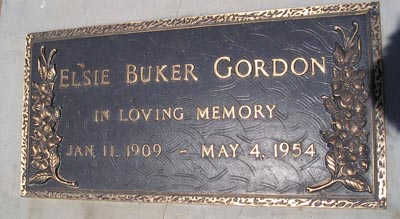 GORDON, ELSIE - Yuma County, Arizona | ELSIE GORDON - Arizona Gravestone Photos
