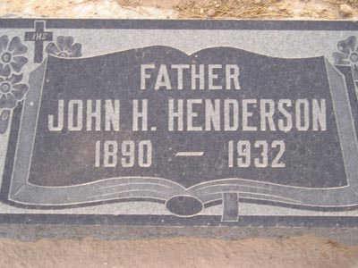 HENDERSON, JOHN H. - Yuma County, Arizona   JOHN H. HENDERSON - Arizona Gravestone Photos