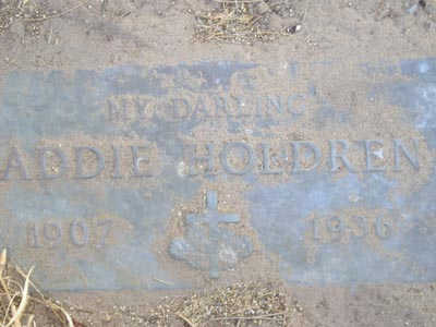 HOLDREN, ADDIE - Yuma County, Arizona | ADDIE HOLDREN - Arizona Gravestone Photos
