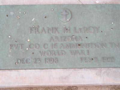 LEROY, FRANK M - Yuma County, Arizona | FRANK M LEROY - Arizona Gravestone Photos