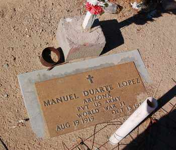 LOPEZ, MANUEL - Yuma County, Arizona   MANUEL LOPEZ - Arizona Gravestone Photos