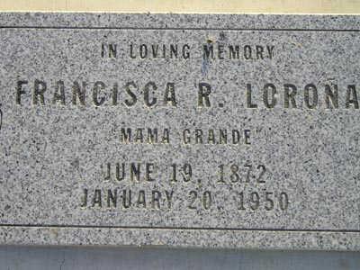 LORONA, FRANCISCA R - Yuma County, Arizona   FRANCISCA R LORONA - Arizona Gravestone Photos
