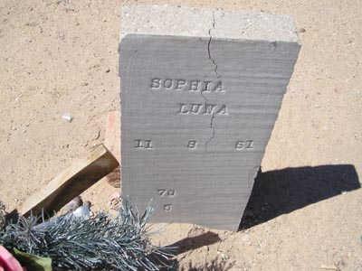 LUNA, SOPHIA - Yuma County, Arizona   SOPHIA LUNA - Arizona Gravestone Photos