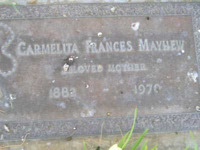 MAYHEW, CARMELITA FRANCES - Yuma County, Arizona | CARMELITA FRANCES MAYHEW - Arizona Gravestone Photos