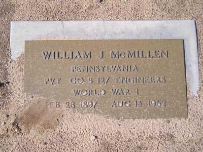 MCMILLEN, WILLIAM J. - Yuma County, Arizona | WILLIAM J. MCMILLEN - Arizona Gravestone Photos