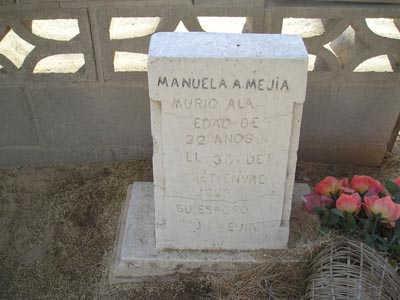 MEJIA, MANUELA A - Yuma County, Arizona   MANUELA A MEJIA - Arizona Gravestone Photos