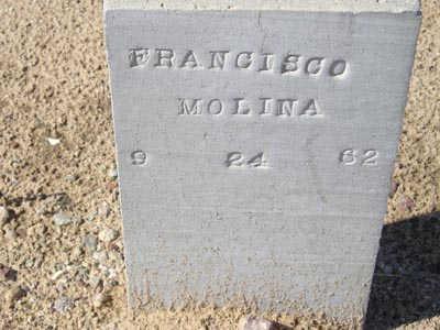 MOLINA, FRANCISCO - Yuma County, Arizona | FRANCISCO MOLINA - Arizona Gravestone Photos