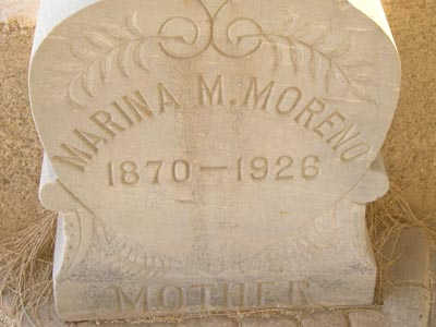 MORENO, MARINA M. - Yuma County, Arizona | MARINA M. MORENO - Arizona Gravestone Photos