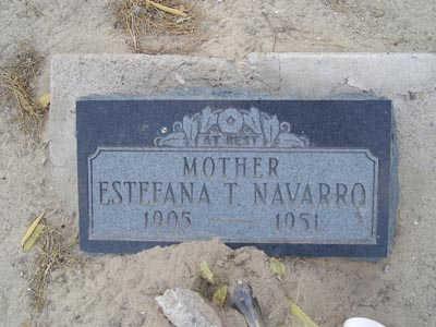 NAVARO, ESTEFANA T - Yuma County, Arizona | ESTEFANA T NAVARO - Arizona Gravestone Photos
