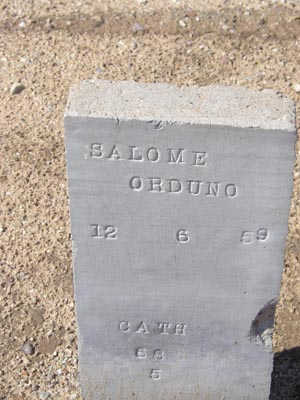ORDUNO, SALOME - Yuma County, Arizona | SALOME ORDUNO - Arizona Gravestone Photos