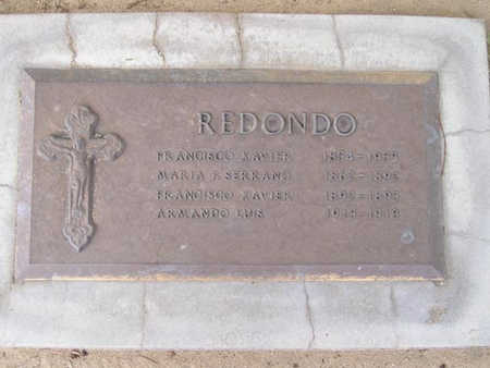 XAVIER REDONDO, FRANCISCO - Yuma County, Arizona | FRANCISCO XAVIER REDONDO - Arizona Gravestone Photos
