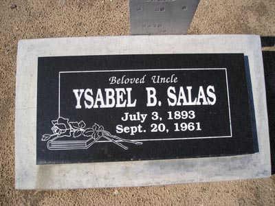 SALAS, YSABEL B. - Yuma County, Arizona   YSABEL B. SALAS - Arizona Gravestone Photos