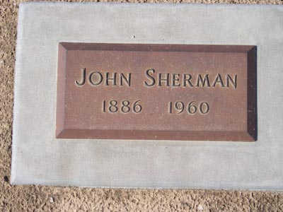 SHERMAN, JOHN - Yuma County, Arizona | JOHN SHERMAN - Arizona Gravestone Photos